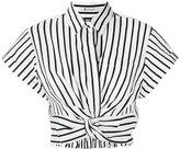 Alexander Wang striped crop top - women - Cotton/Polyester - 2