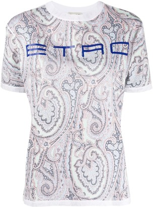 Etro paisley logo T-shirt