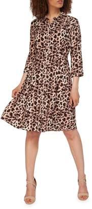 Dex Leopard-Print Shirtdress