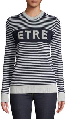 Etre Cecile Striped Wool Blend Sweater