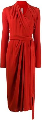 Rick Owens Asymmetric Wrap Dress