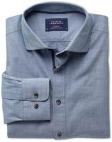 Charles Tyrwhitt Slim fit spread collar popover sky blue shirt
