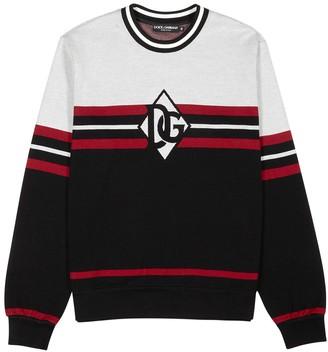 Dolce & Gabbana Stripe-intarsia knitted cotton jumper