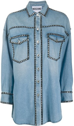 Moschino Crystal-Embellished Denim Shirt