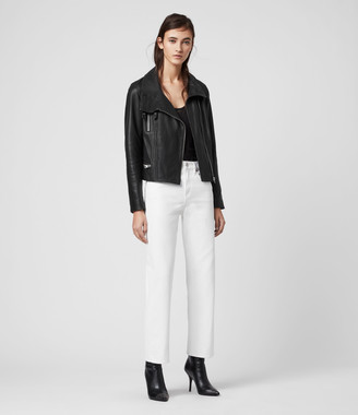 AllSaints Bales Leather Biker Jacket