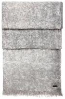 HUGO BOSS Nuran Cotton Linen Woven Scarf One SizeBlue