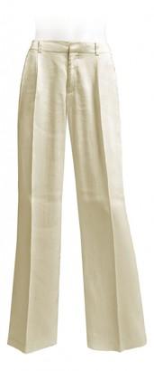 Stefanel Beige Linen Trousers