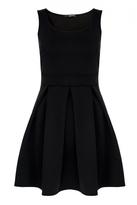 Quiz Black Pleated Skater Dress