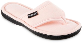 Isotoner Women's Cambell Heathered Jersey Thong Slippers