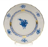 Herend Chinese Bouquet Blue Bread & Butter, 6""