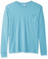 Cotton Long-Sleeve T-Shirt with Pocket Clementine Mens 4.8 Oz
