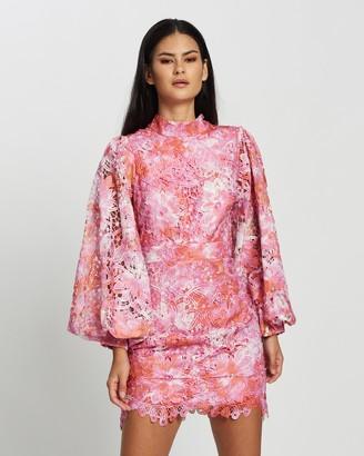 Mossman - Women's Pink Mini Dresses - The Wonderland Mini Dress - Size 6 at The Iconic