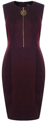 DKNY Occasion Suede Zip Dress