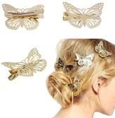 Baishitop 1Pair en Hair Pin, Butterfly Hair Pin Clips