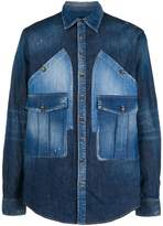 DSQUARED2 denim shirt with oversized pockets
