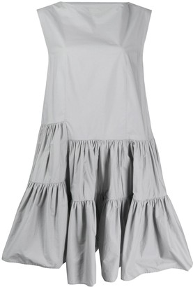 MM6 MAISON MARGIELA asymmetric ruffle dress