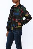 Gracia Camouflage Bomber Jacket