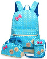 Greeniris Kids Cute School Backpack Women Rucksack 3 Pcs