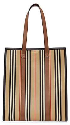 Burberry Women's Medium Icon Stripe E-Canvas Tote