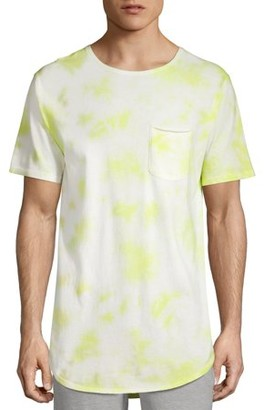 No Boundaries Men's Short Sleeve Tie Dye Elongated Tee