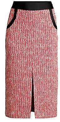 Maje Women's Tweed Pencil Skirt