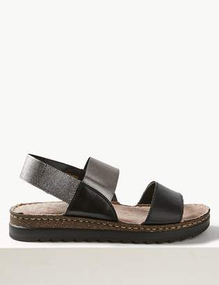 M&S CollectionMarks and Spencer Leather Elastic Sandals