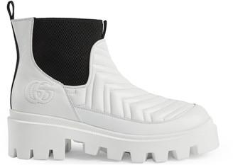 Gucci Women's matelasse Chelsea boot