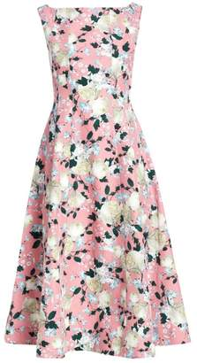 Erdem Kinsey Floral Fit-&-Flare Dress