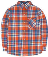 Levi'S Plaid Flannel Collared Shirt