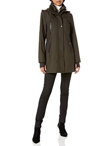 French Connection Women's Mixmedia Shoftshell Anorak W/Contrast Hood