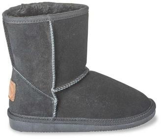 Les Tropéziennes Kids Snow Fur-Lined Suede Boots
