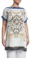 Marina Rinaldi Veicolo Shells Graphic Long Tee, Plus Size