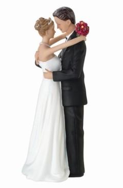 Lillian Rose Bride and Groom Dancing Figurine Caucasian