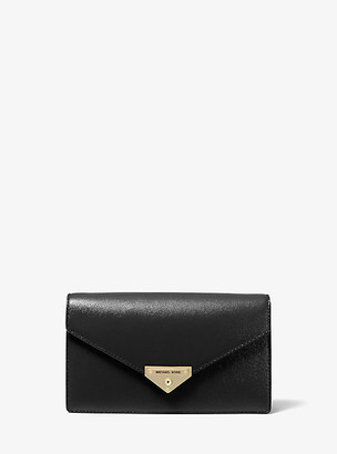 Michael Kors Grace Medium Patent Leather Envelope Clutch