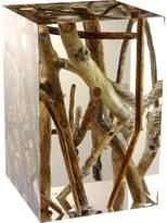 Bleu Nature Kisimi Driftwood-Inset Acrylic Stool