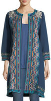 Johnny Was Yucatan Everyday French Terry Embroidered Coat, Plus Size
