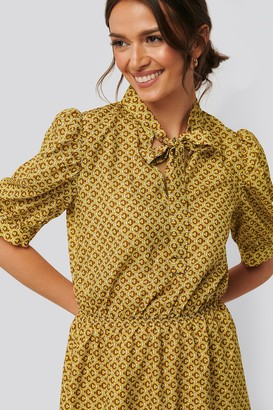 Trendyol Puff Sleeve Neck Detail Dress