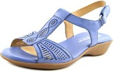 Naturalizer Network Women W Open-toe Leather Blue Slingback Sandal.