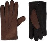Barneys New York Men's Cashmere-Lined Colorblock Gloves-BROWN