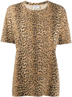 Saint Laurent leopard print T-shirt