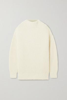LAUREN MANOOGIAN Fisherwoman Ribbed Alpaca And Organic Cotton-blend Sweater