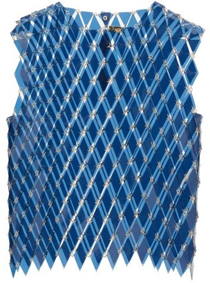 Paco Rabanne Chainmail Pvc Tank Top - Blue Multi