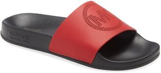 MICHAEL Michael Kors Gilmore Perforated Logo Slide Sandal