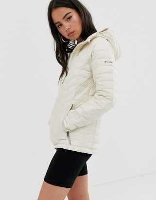 Columbia Powder Lite hooded jacket in cream