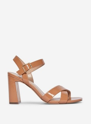 Dorothy Perkins Womens Wide Fit Nude 'Selena' Heeled Sandals