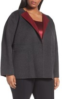 Lafayette 148 New York Plus Size Women's Oriana Wool & Cashmere Reversible Jacket