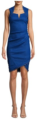 Nicole Miller Stretch Linen Sweetheart Dress (Insignia) Women's Clothing