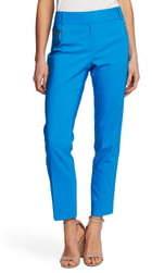 Chaus Dena Zipper Pocket Stretch Cotton Ankle Pants
