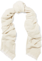Brunello Cucinelli Sequined Cashmere And Silk-blend Scarf - Off-white