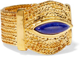Aurelie Bidermann Sunset Gold-plated Lapis Lazuli Ring - 54